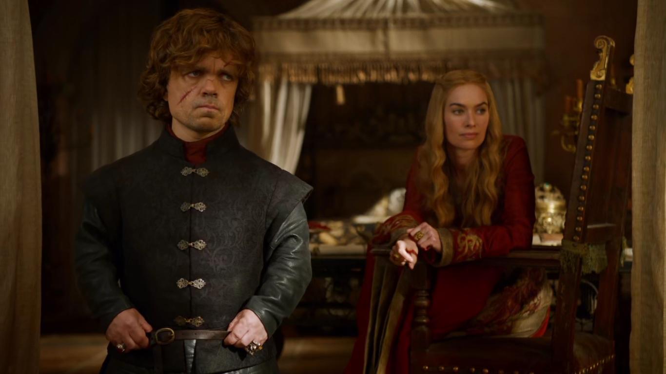 Il trono di spade: Lena Headey e Peter Dinklage in una scena dell'episodio The Climb