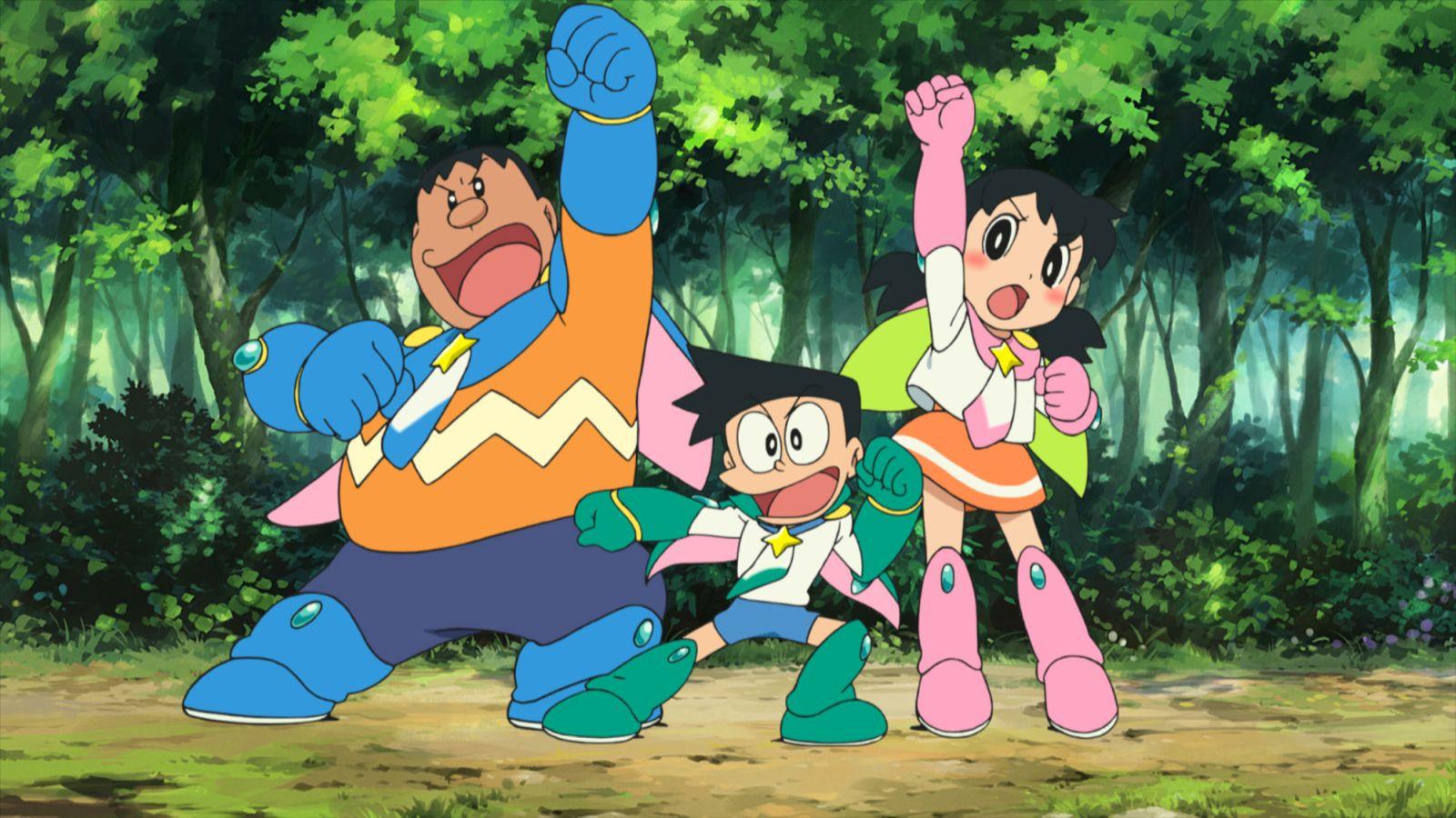 Doraemon il film: Nobita e gli eroi dello spazio, un'immagine tratta dal film d'animazione