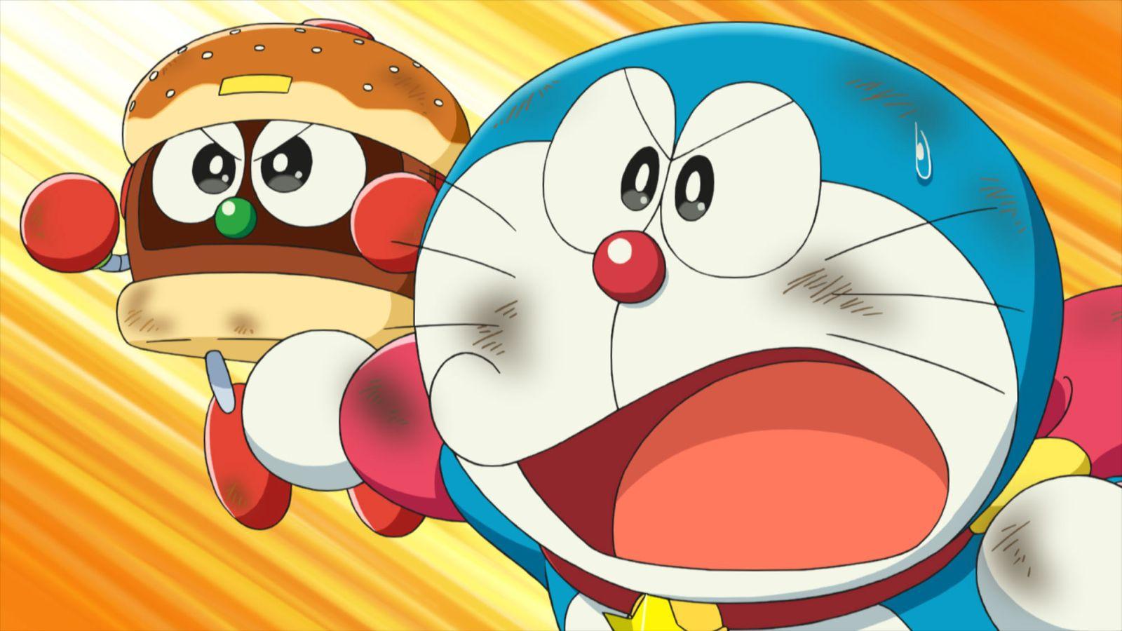 Doraemon il film: Nobita e gli eroi dello spazio, una scena del film animato
