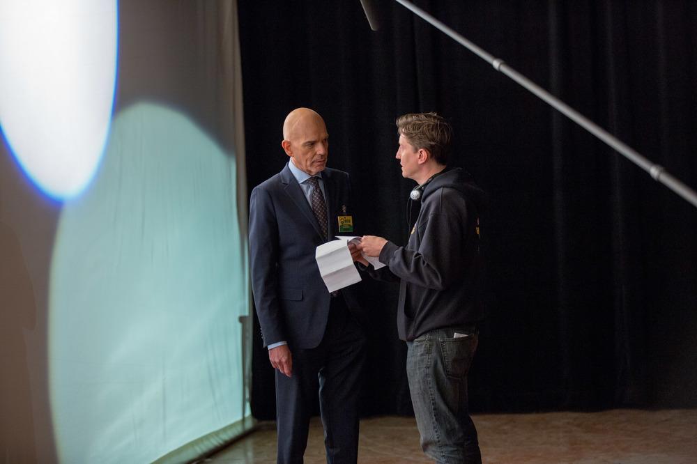 All'ultimo voto: Billy Bob Thornton e il regista David Gordon Green sul set del film