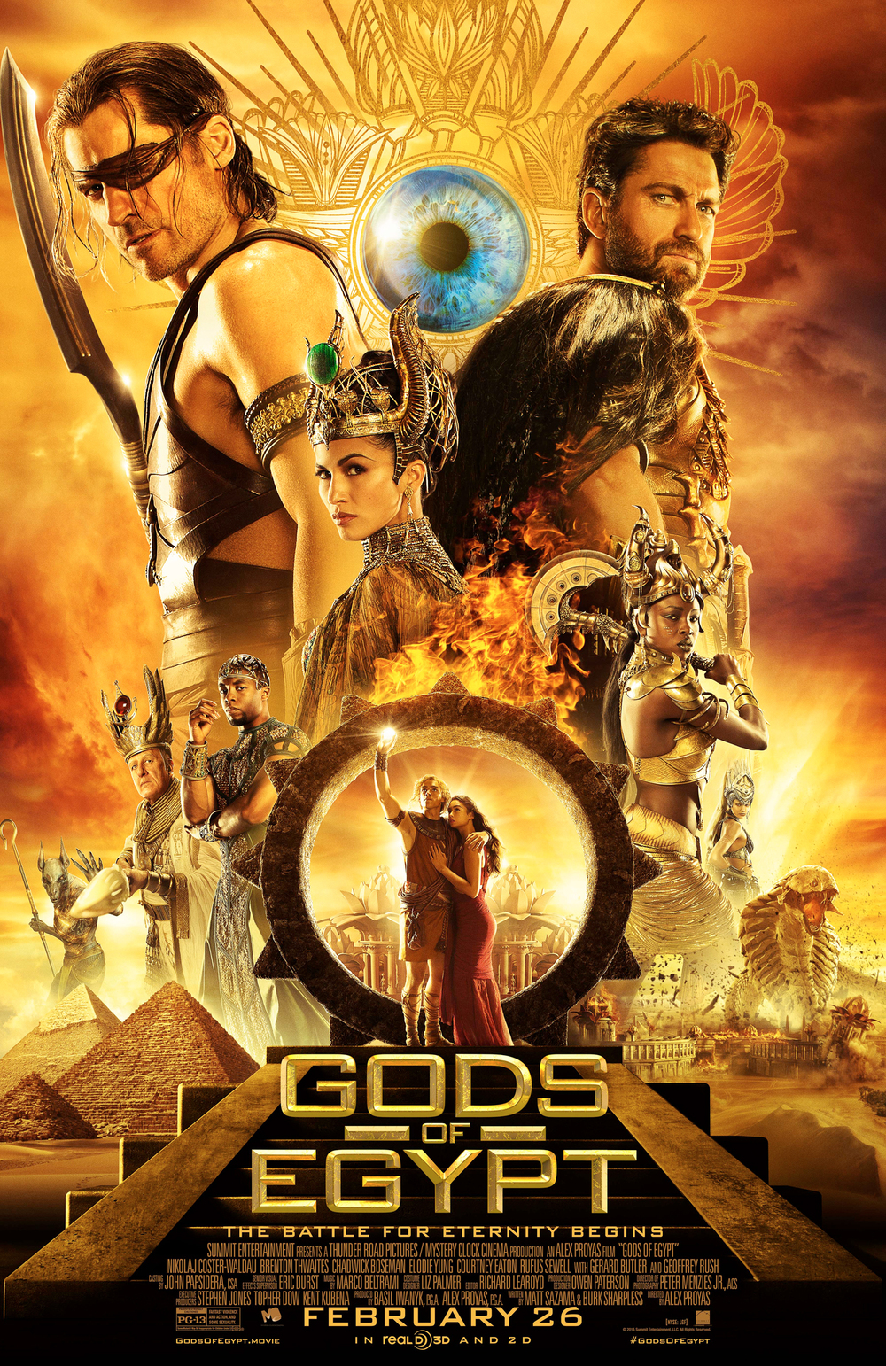 Gods of Egypt: il final poster originale