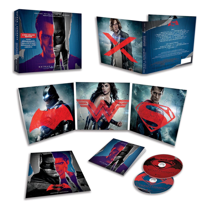 Batman v Superman: Dawn of Justice - le copertine della score in versione CD