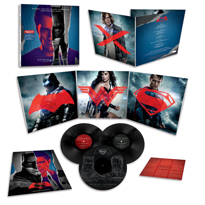 Batman v Superman: Dawn of Justice - le copertine della score in versione vinile