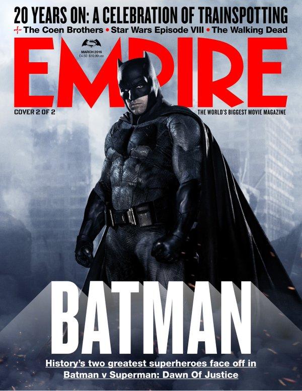Batman v Superman: la copertina di Empire dedicata a Batman