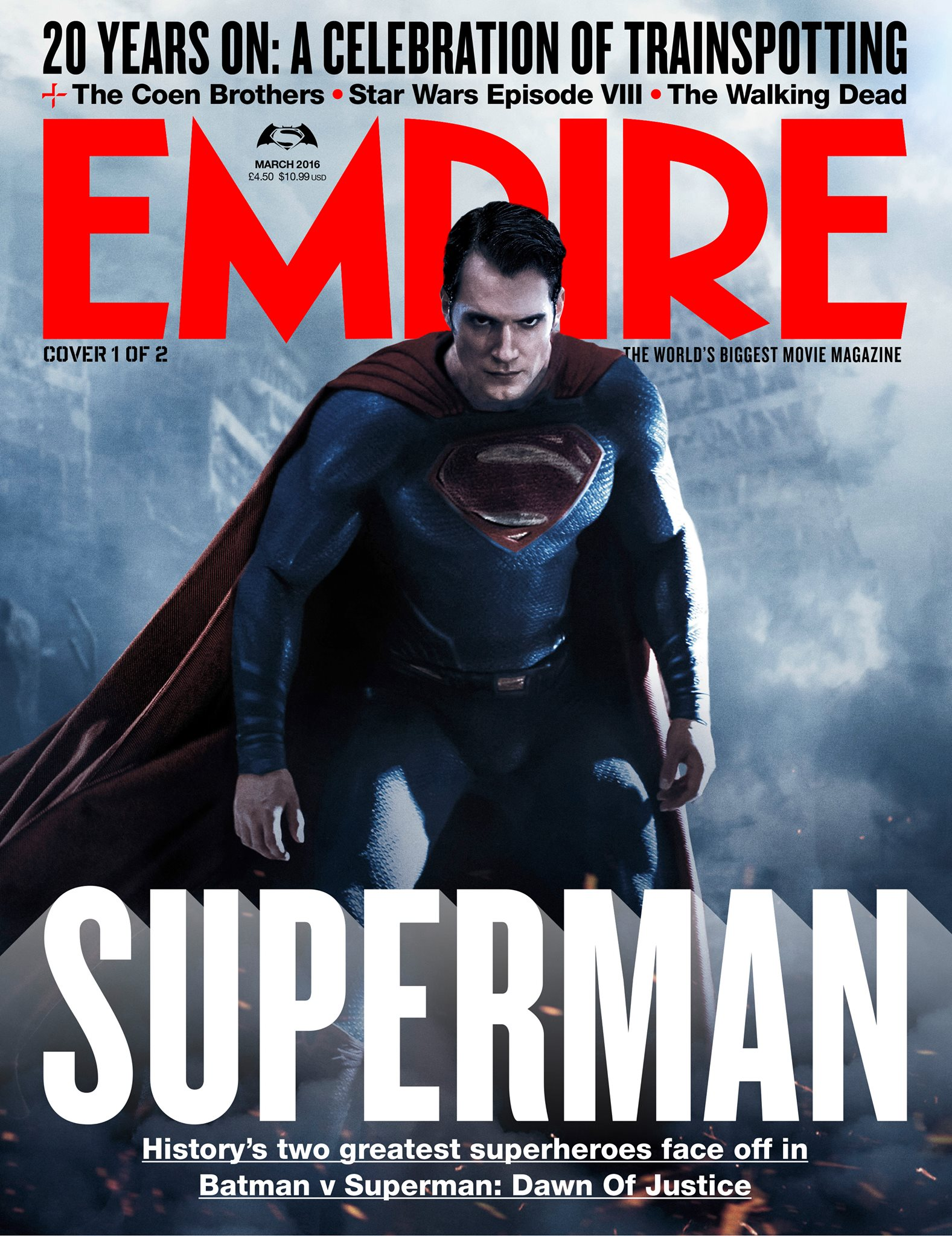 Batman v Superman: la copertina di Empire dedicata a Superman