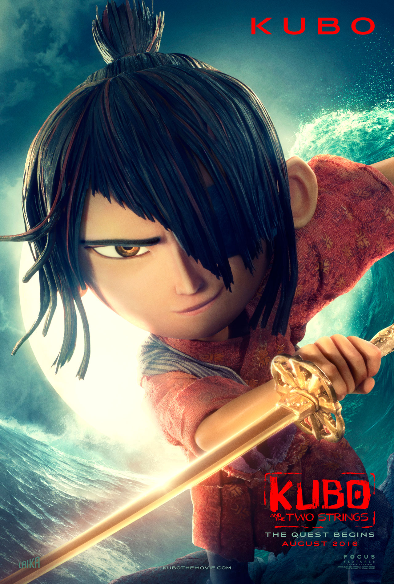 Kubo and the Two Strings: il character poster di Kubo