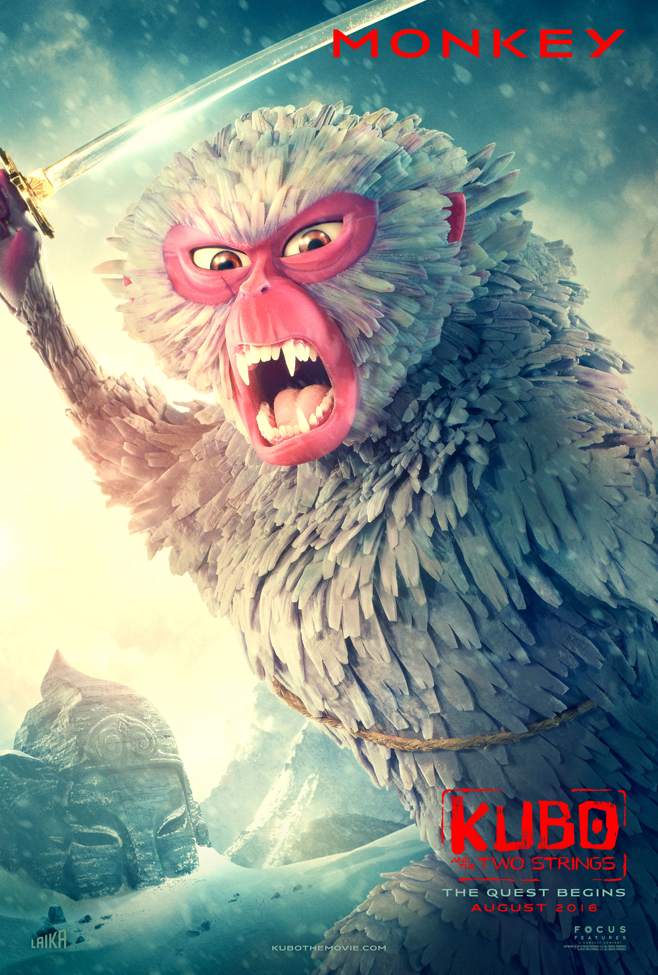 Kubo and the Two Strings: il character poster di Monkey