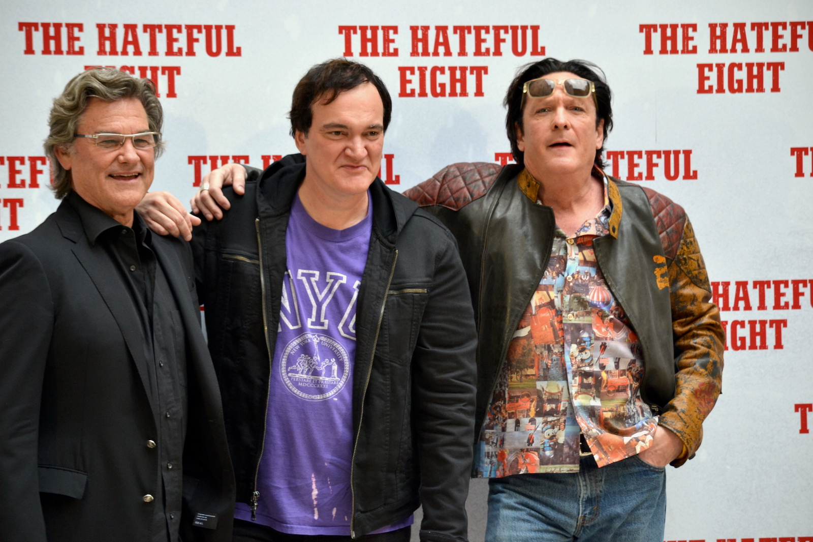 The Hateful Eight: Tarantino presenta il film a Roma con Kurt Russell e Michael Madsen