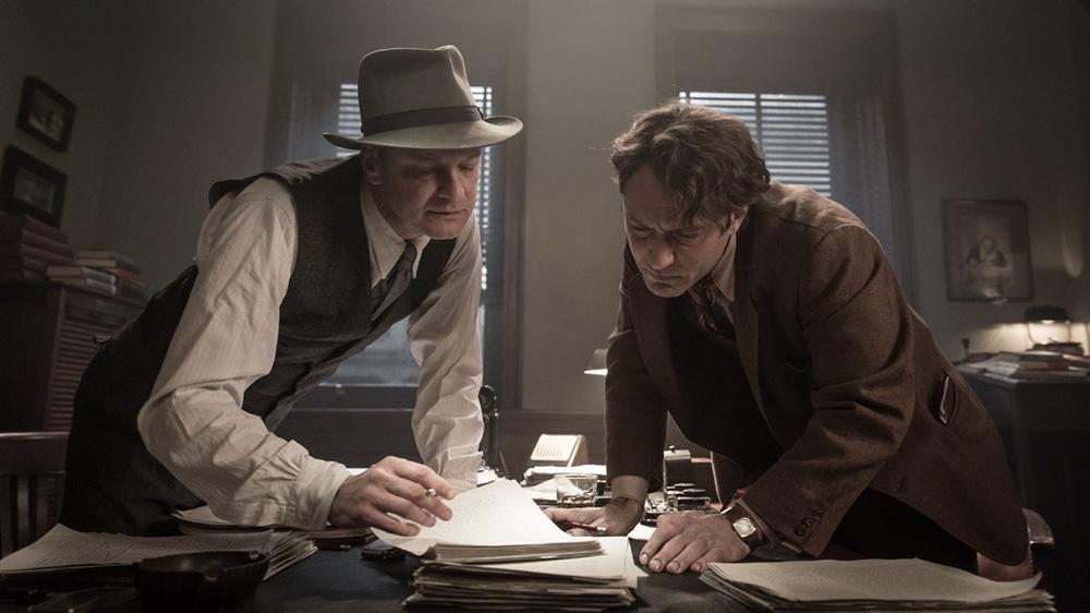 Genius: Colin Firth e Jude Law in un momento del film