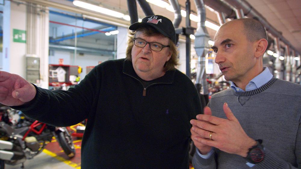 Where to Invade Next: Michael Moore in una scena del suo documentario