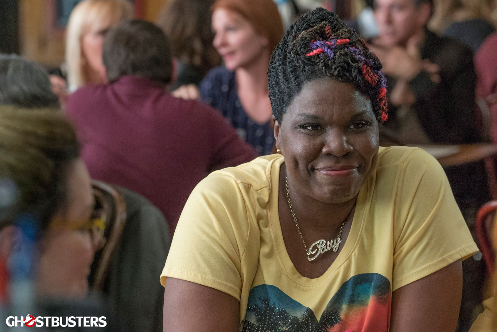 Ghostbusters: un primo piano di Leslie Jones