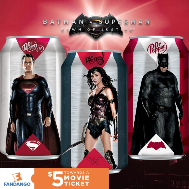Batman V Superman: Dawn of Justice - La promozione legata alla Dr Pepper