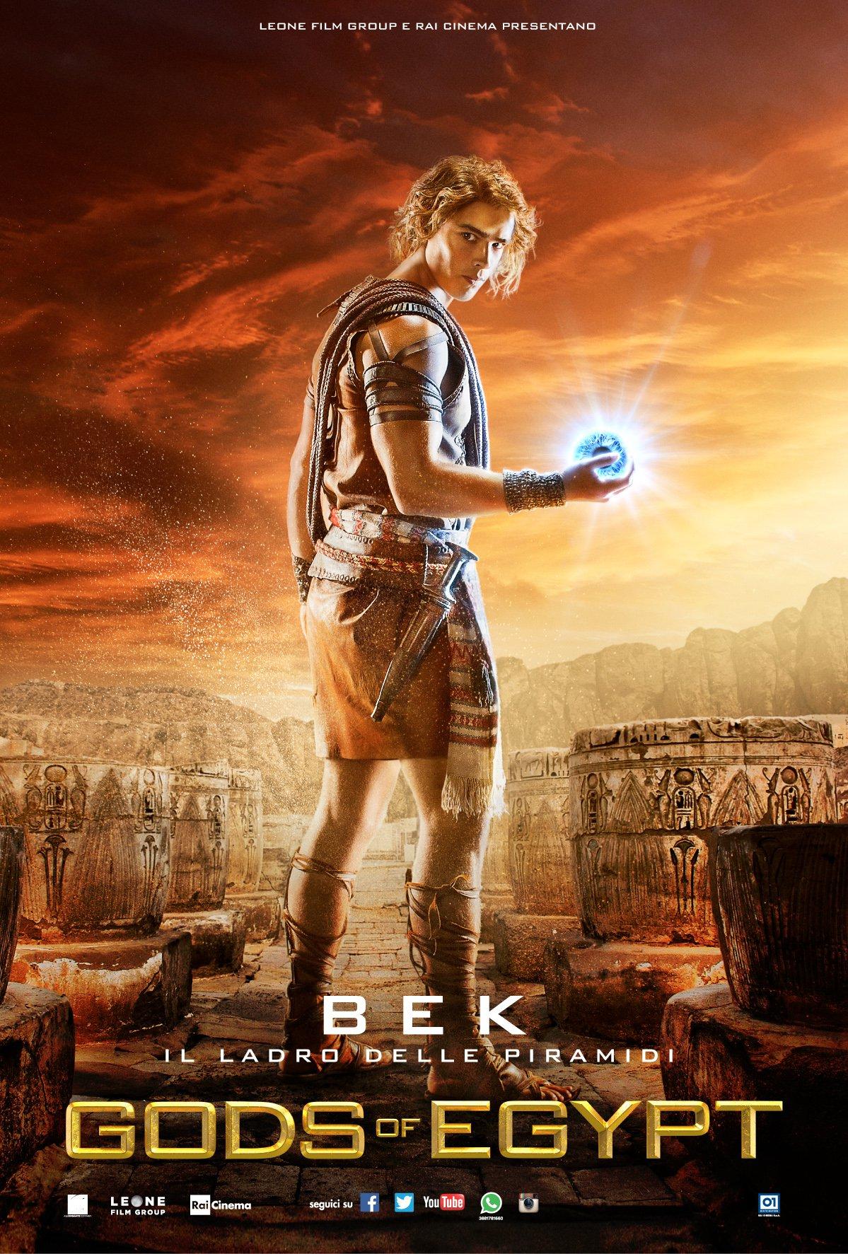 Gods of Egypt: il character poster italiano di Bek