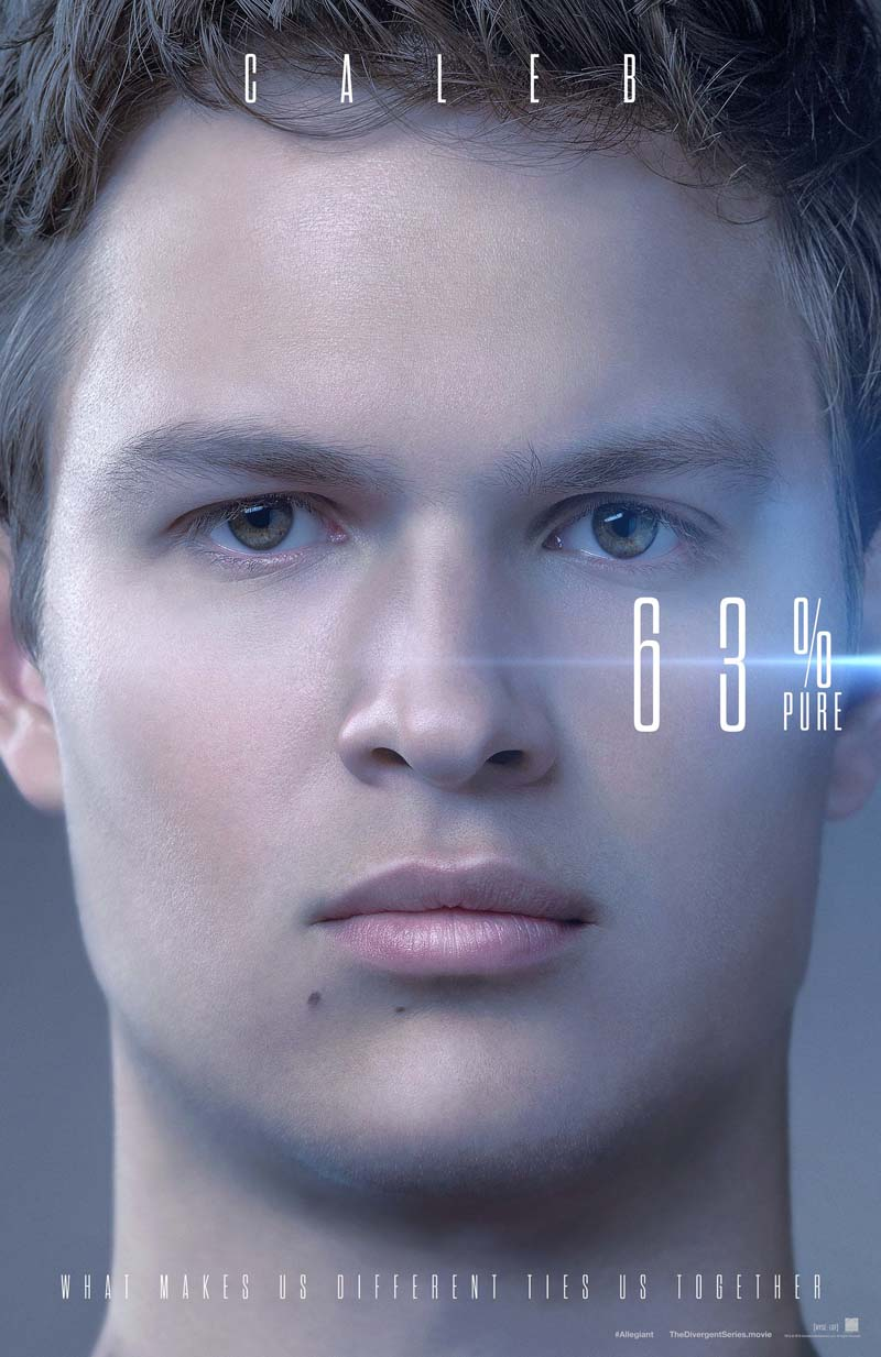 The Divergent Series: Allegiant - Il character poster di Caleb
