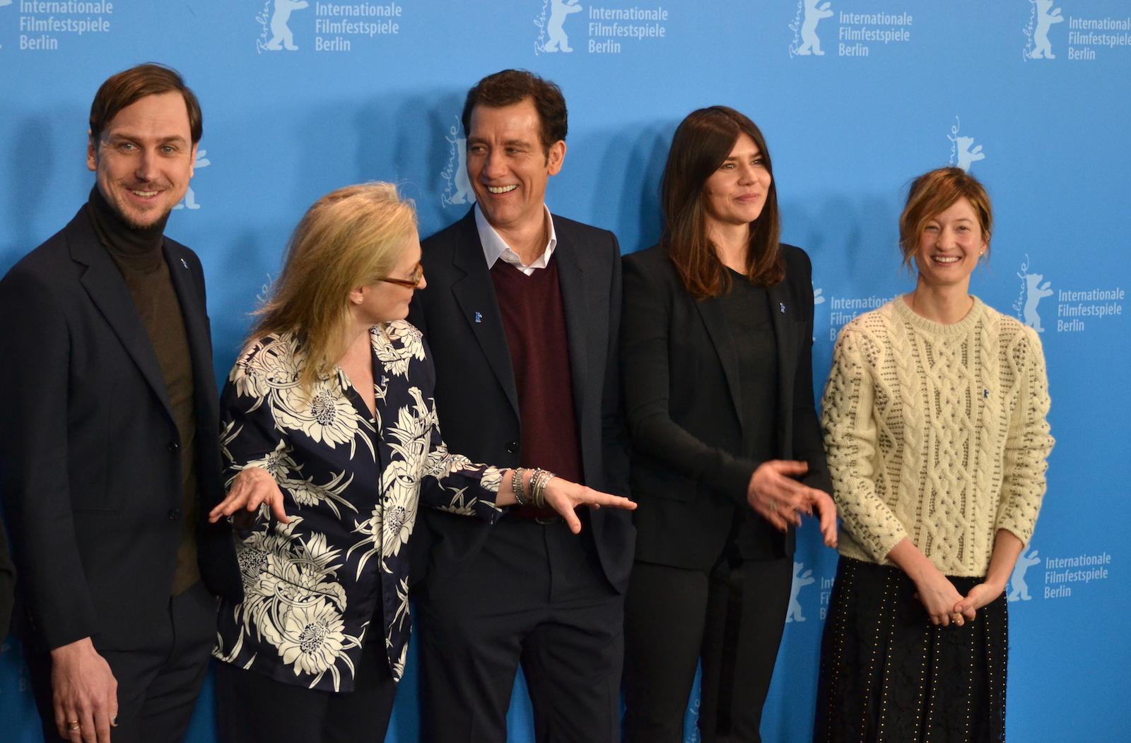 Berlino 2016:Meryl Streep, Clive Owen, Małgorzata Szumowska, Lars Eidinger e Alba Rohrwacher al photocall della giuria