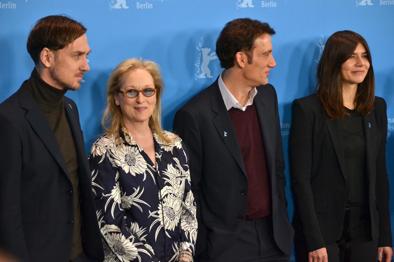 Berlino 2016:Meryl Streep, Clive Owen, Lars Eidinger, Małgorzata Szumowska al photocall della giuria