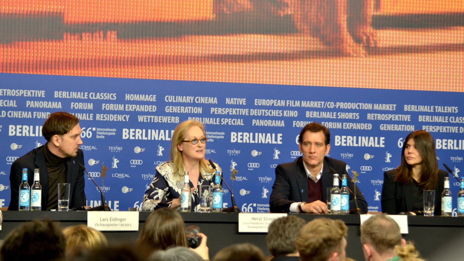 Berlino 2016: Meryl Streep, Clive Owen, Lars Eidinger e Małgorzata Szumowska in conferenza stampa