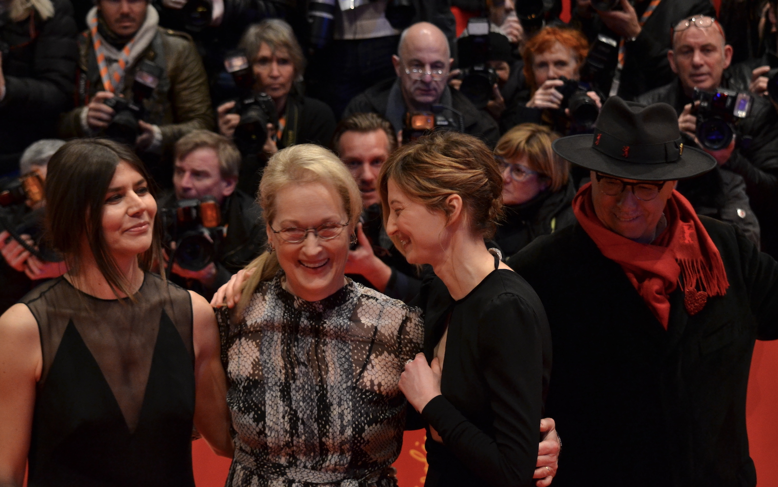 Berlino 2016: Meryl Streep, Małgorzata Szumowska, Alba Rohrwachersul red carpet