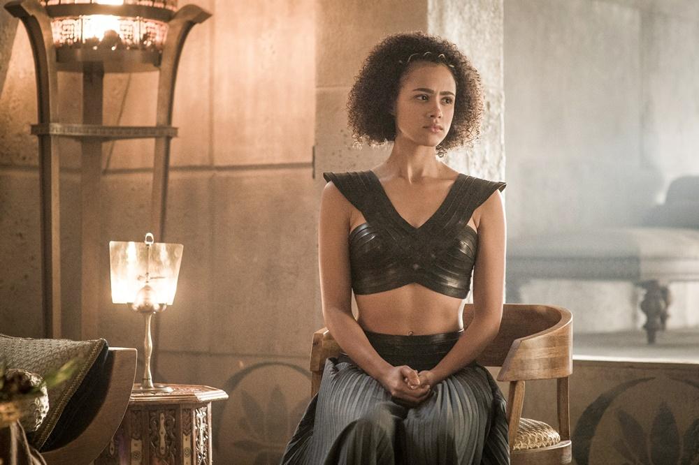 Il trono di spade: l'attrice Nathalie Emmanuel in una foto della sesta stagione