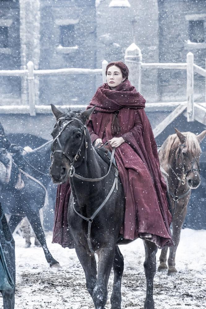 Il trono di spade: l'attrice Carice Van Houten in una foto della première della sesta stagione