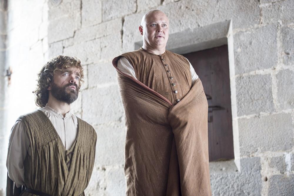 Il trono di spade: Peter Dinklage e Conleth Hiill in una foto della sesta stagione