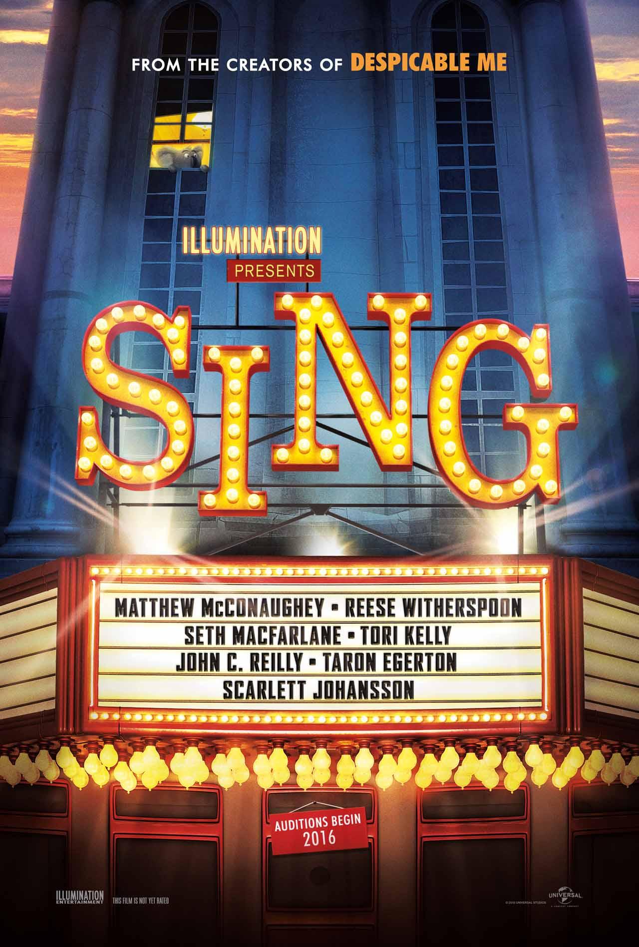 Sing: il poster del film