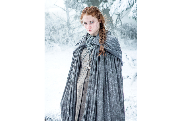 Il trono di spade: l'interprete di Sansa in una foto della sesta stagione