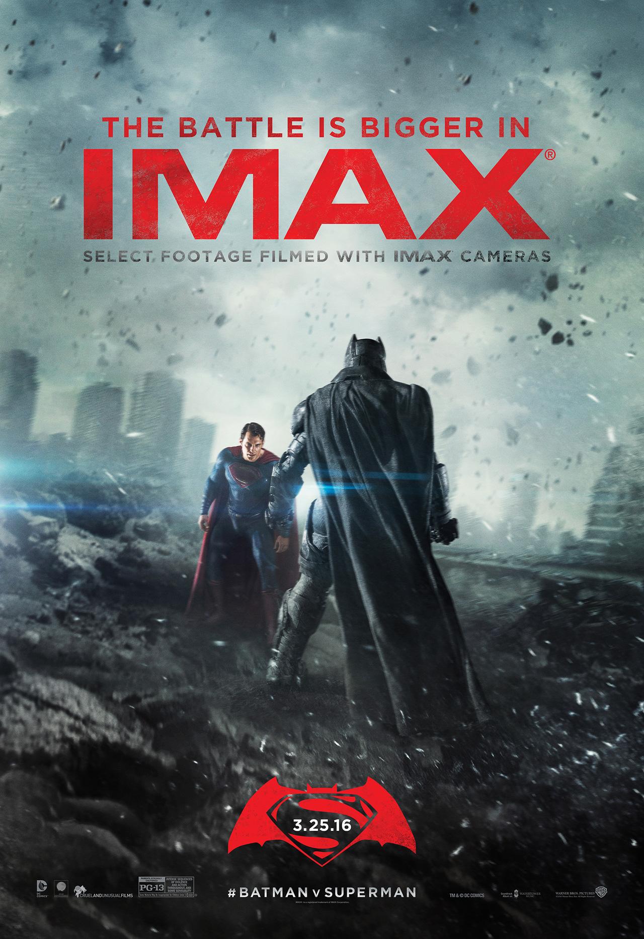 Batman v Superman: il poster della versione IMAX