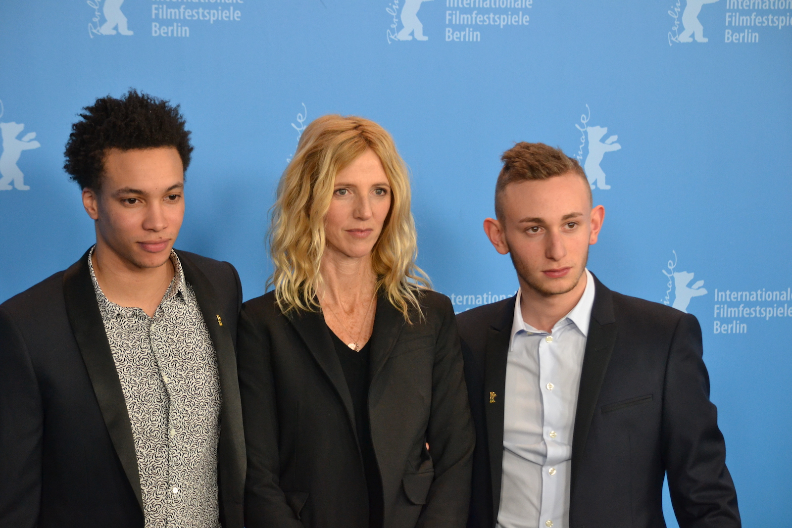 Berlino 2016: Corentin Fila, Sandrine Kiberlain, Kacey Mottet Klein al photocall di Being 17