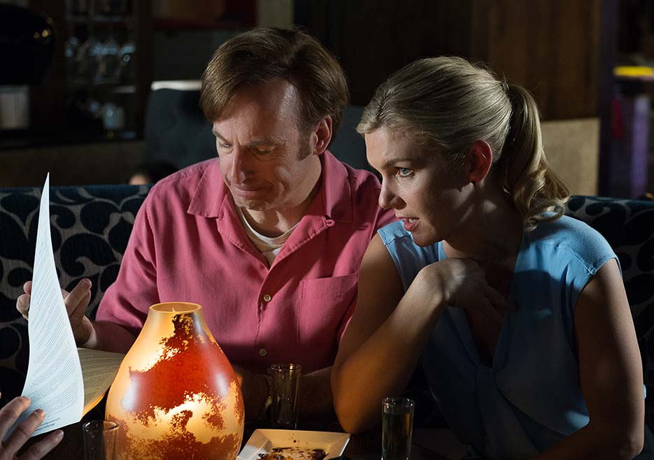 Better Call Saul: Bob Odenkirk e Rhea Seehorn interpretano Jimmy e Kim in Switch