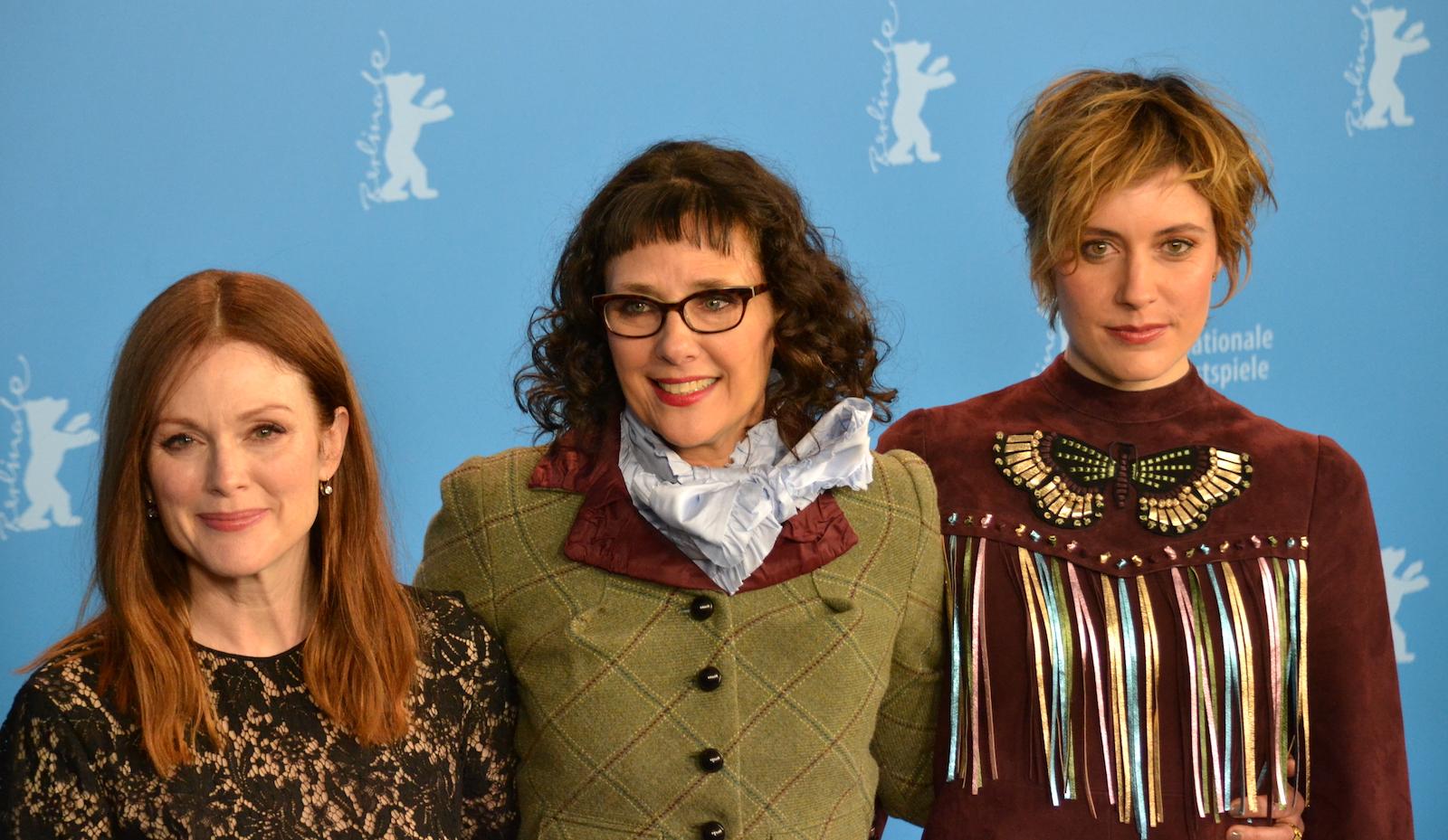 Berlino 2016: Rebecca Miller; Greta Gerwig, Julianne Moore al photocall di Maggie's Plan