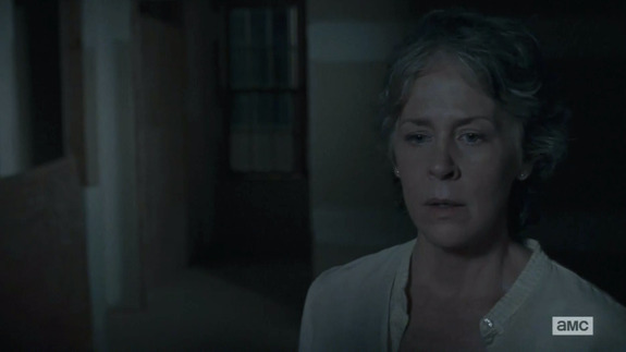 The Walking Dead: Melissa McBride in una scena di No Way Out