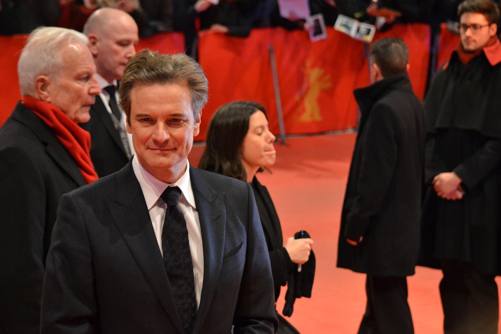 Berlino 2016: Colin Firth in uno scatto sul red carpet di Genius