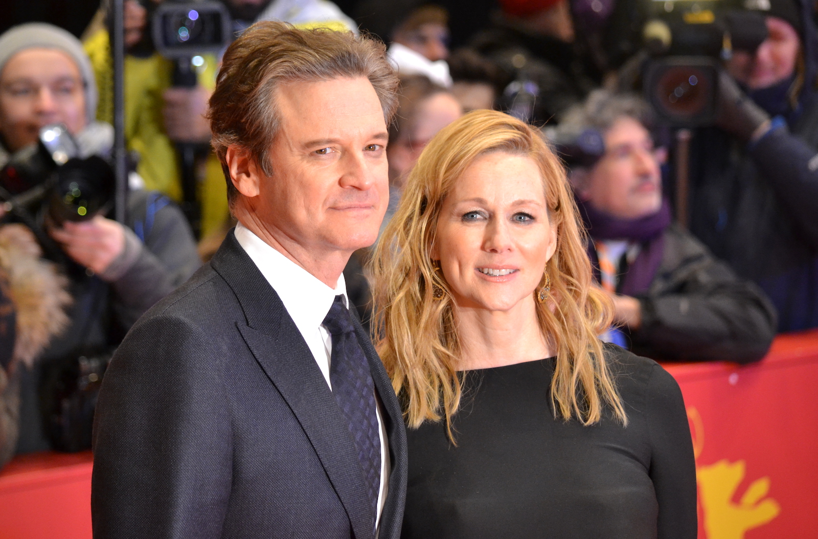 Berlino 2016: Colin Firth, Laura Linney sul red carpet di Genius
