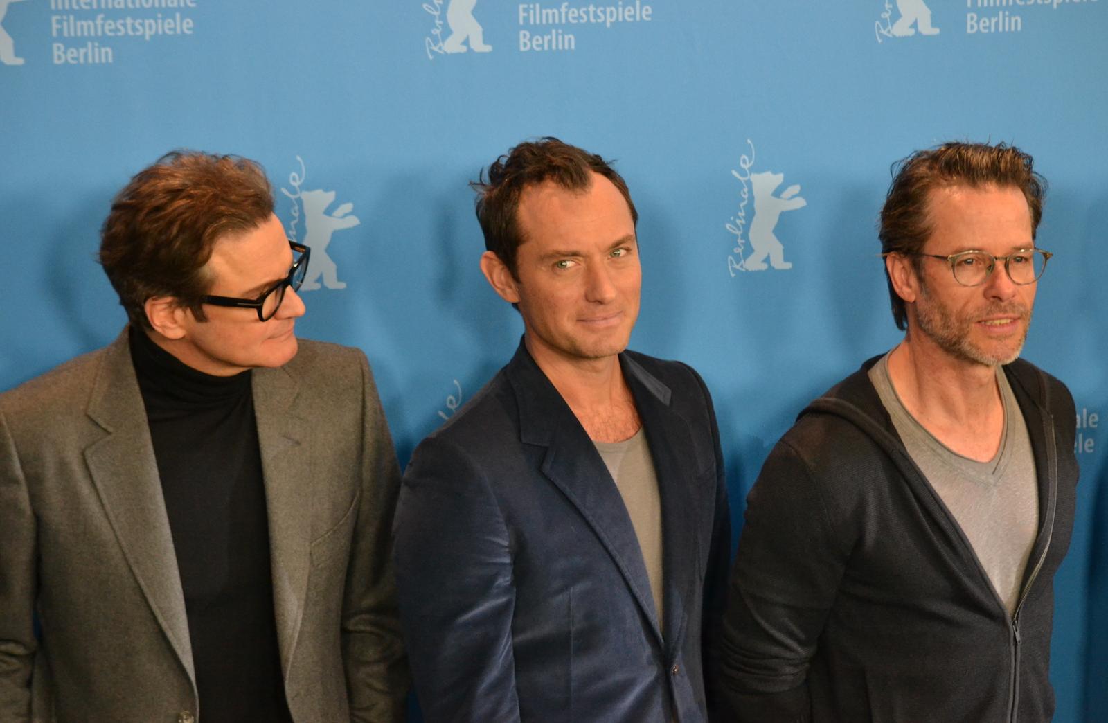 Berlino 2016: Colin Firth, Jude Law, Guy Pearce al photocall di Genius