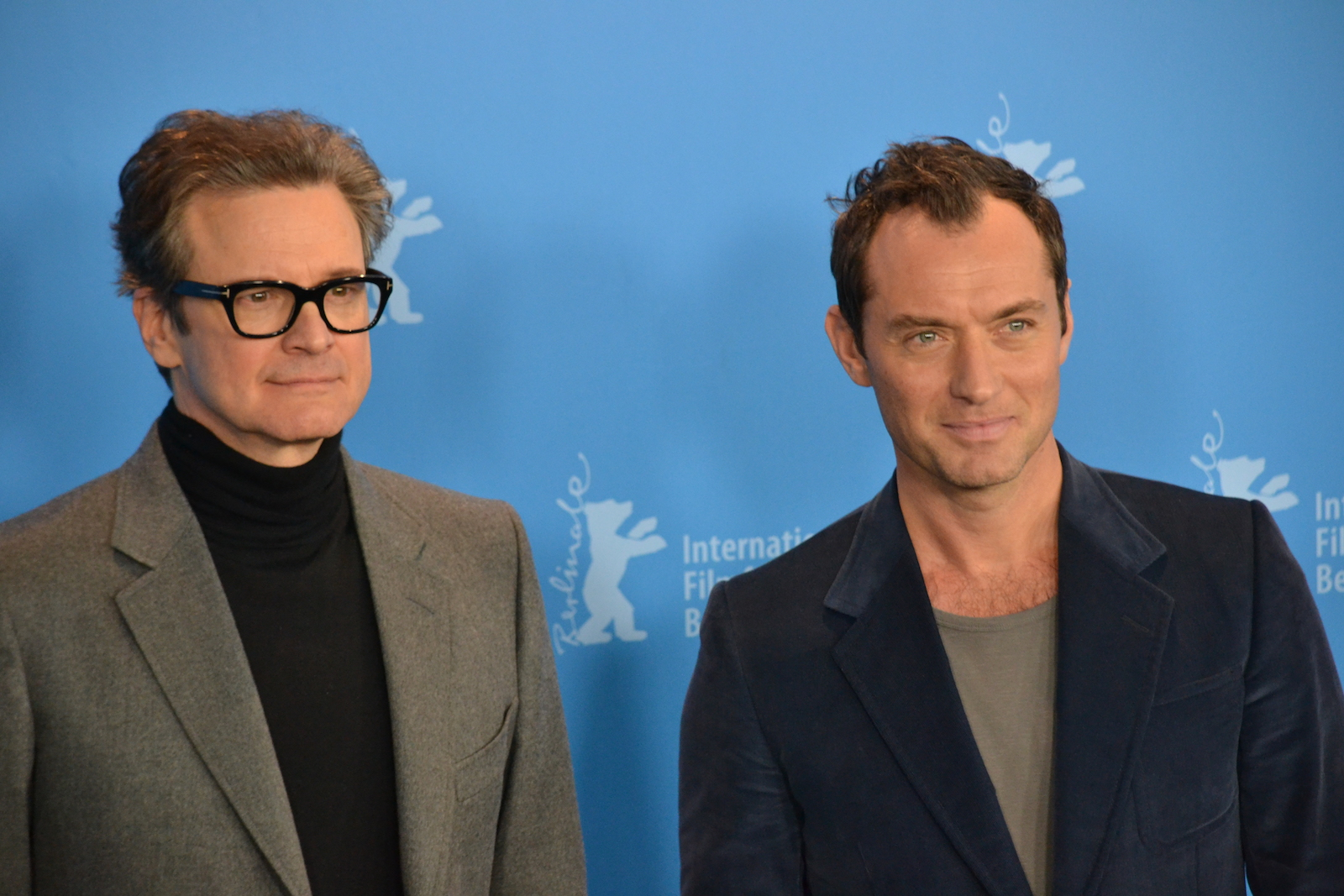 Berlino 2016: Jude Law e Colin Firth posano al photocall di Genius