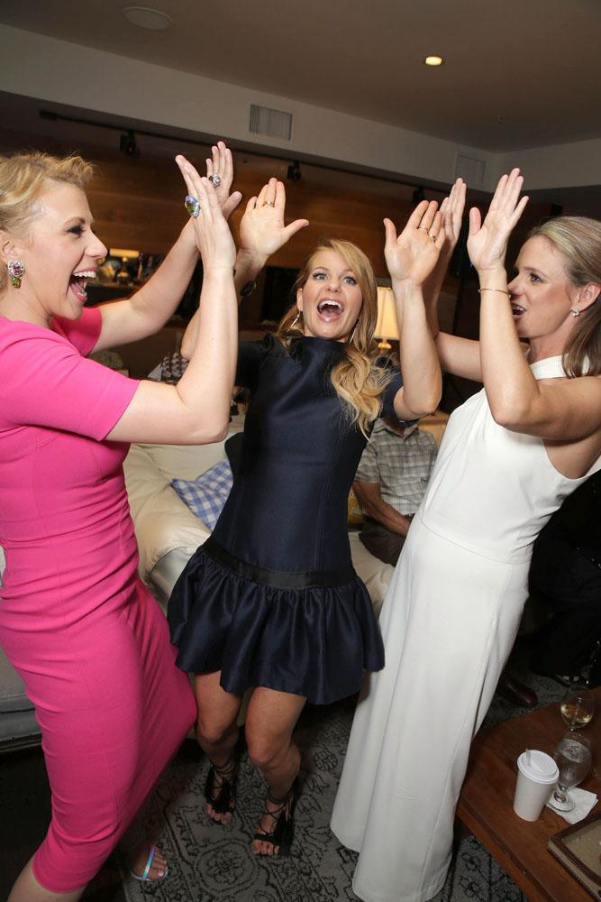 Jodie Sweetin con Candace Cameron Bure, Andrea Barber alla premiere di Le amiche di mamma