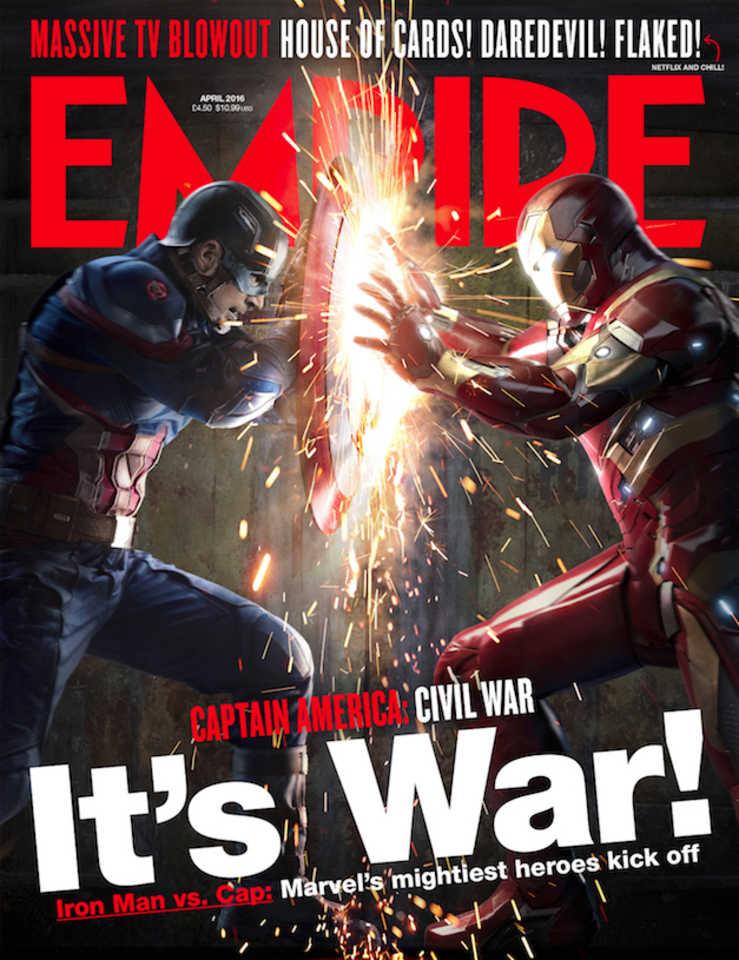 Captain America: Civil War - La copertina di Empire dedicata al film
