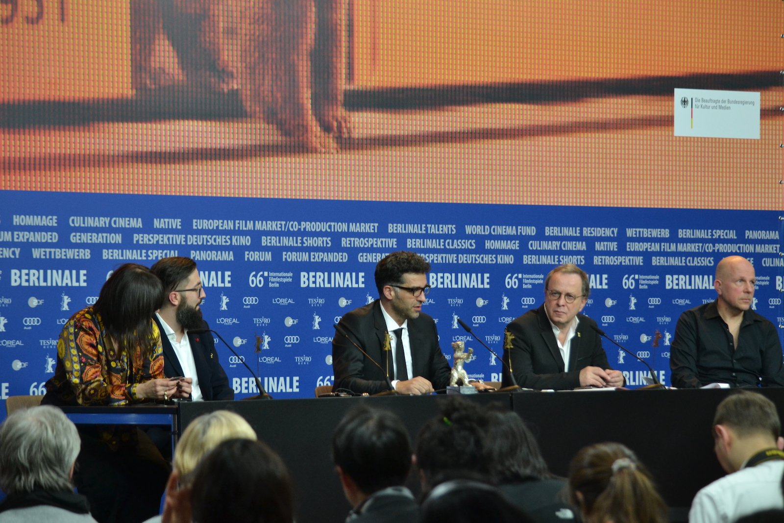 Berlino 2016: Danis Tanović alla conferenza dei premiati