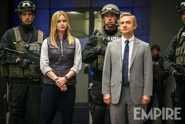 Captain America: Civil War - Martin Freeman ed Emily VanCamp in una foto di Empire