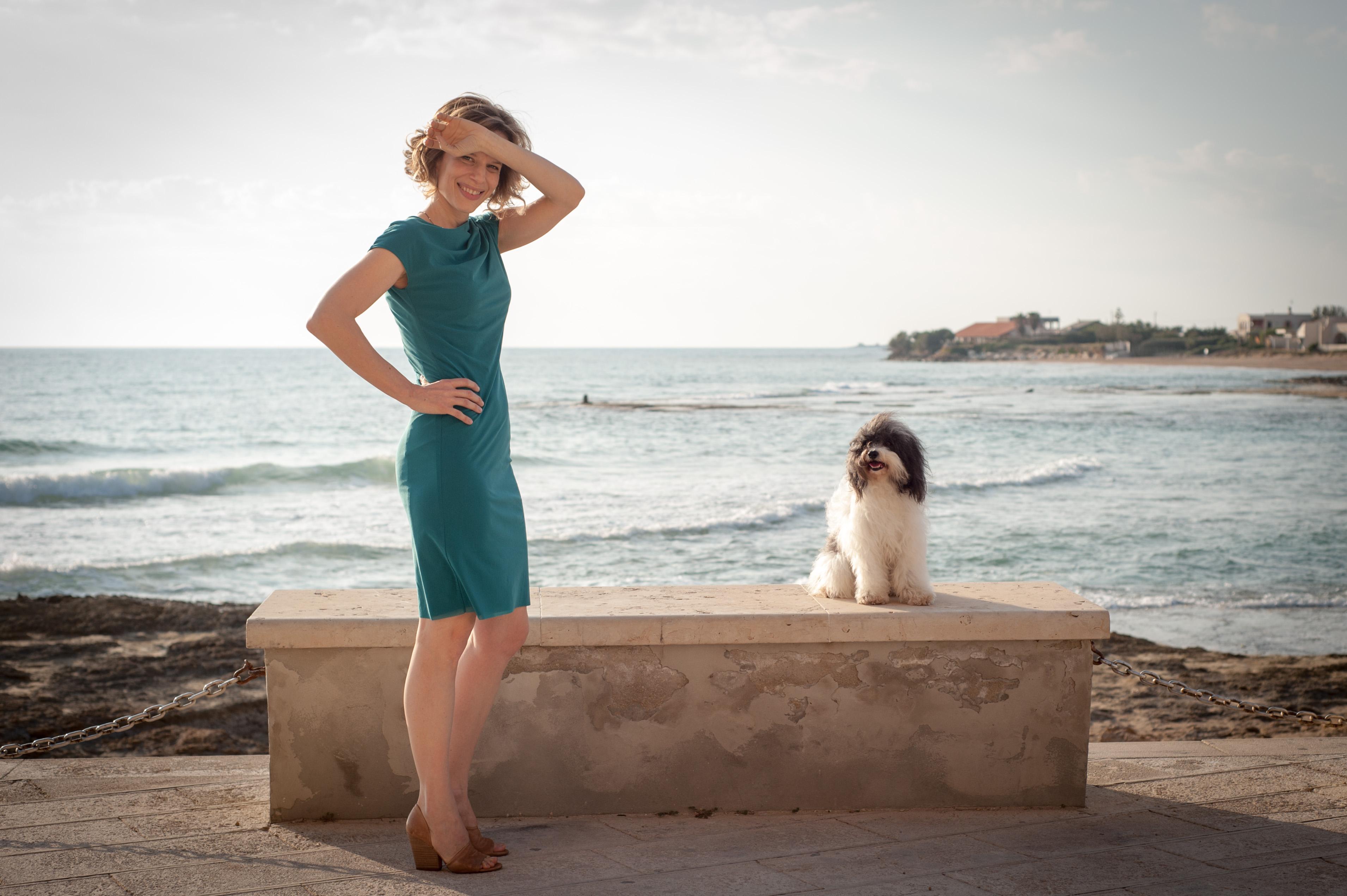 Il commissario Montalbano: l'attrice Sonia Bergamasco in una foto di Una faccenda delicata