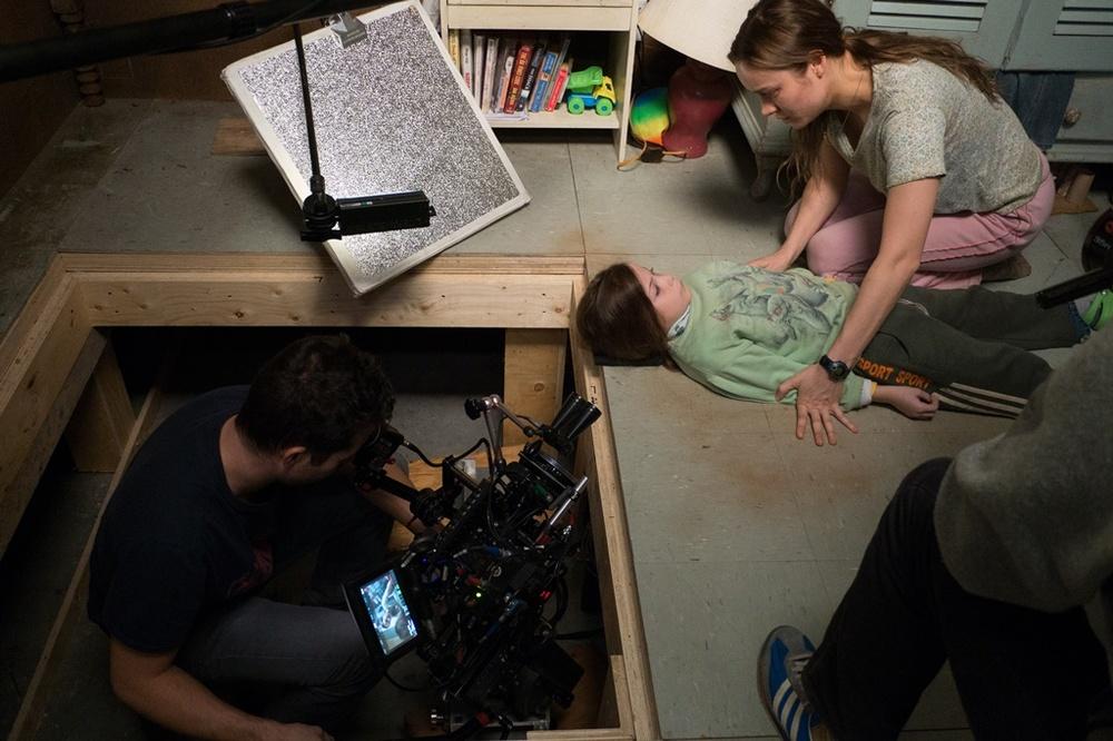 Room: Brie Larson e Jacob Tremblay sul set del film