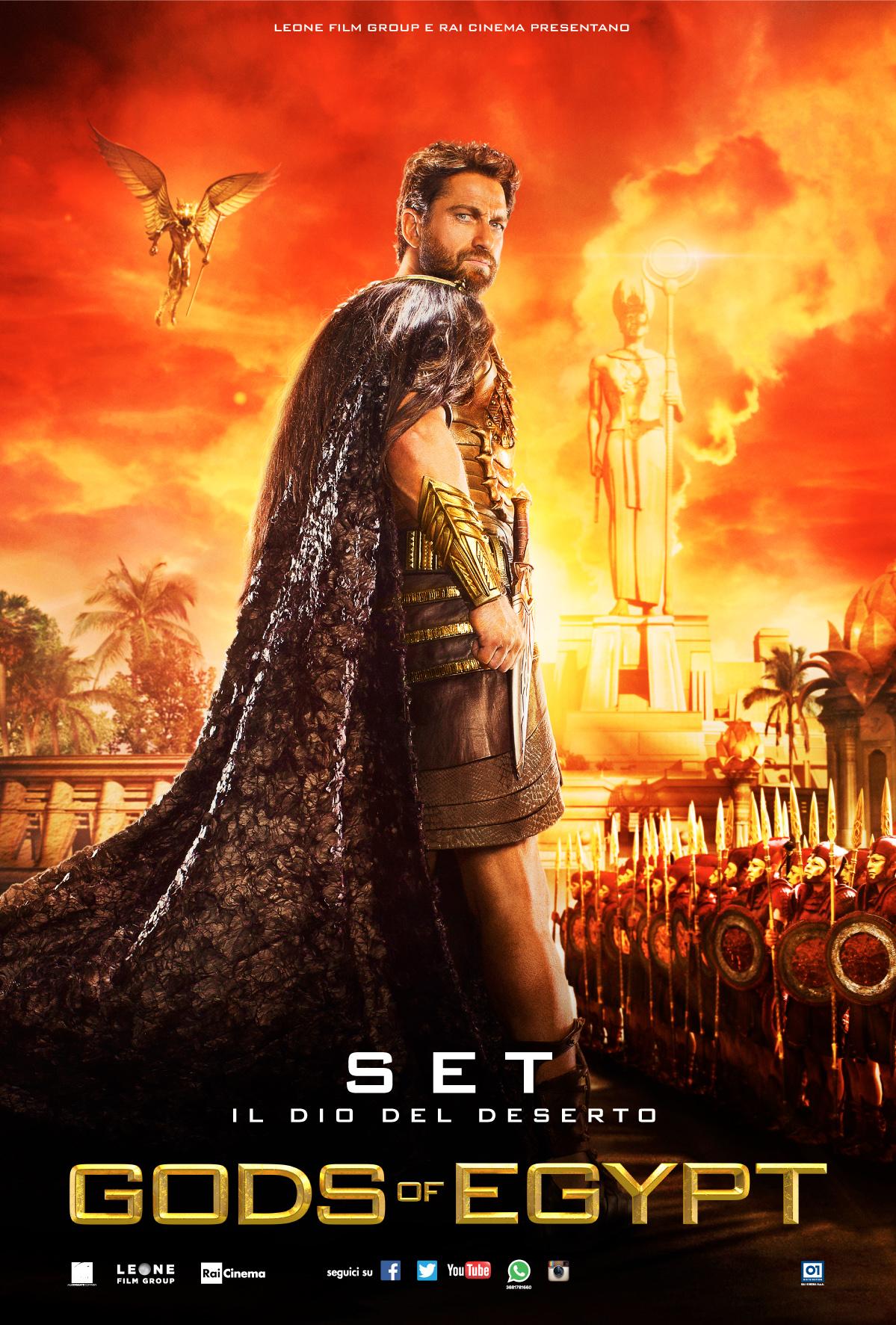 Gods of Egypt: Gerard Butler nel character poster italiano di Set