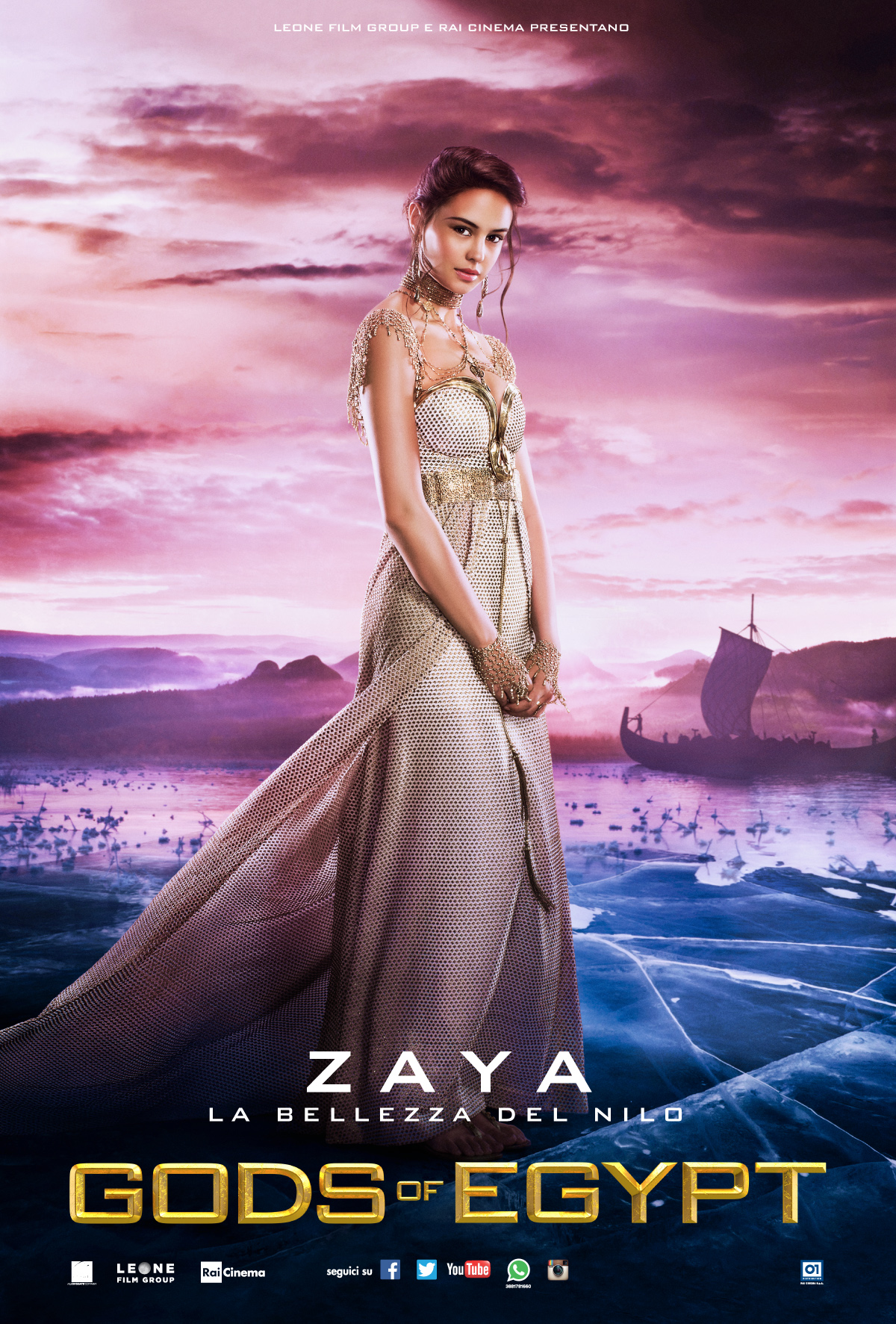 Gods of Egypt: Courtney Eaton nel character poster italiano di Zaya