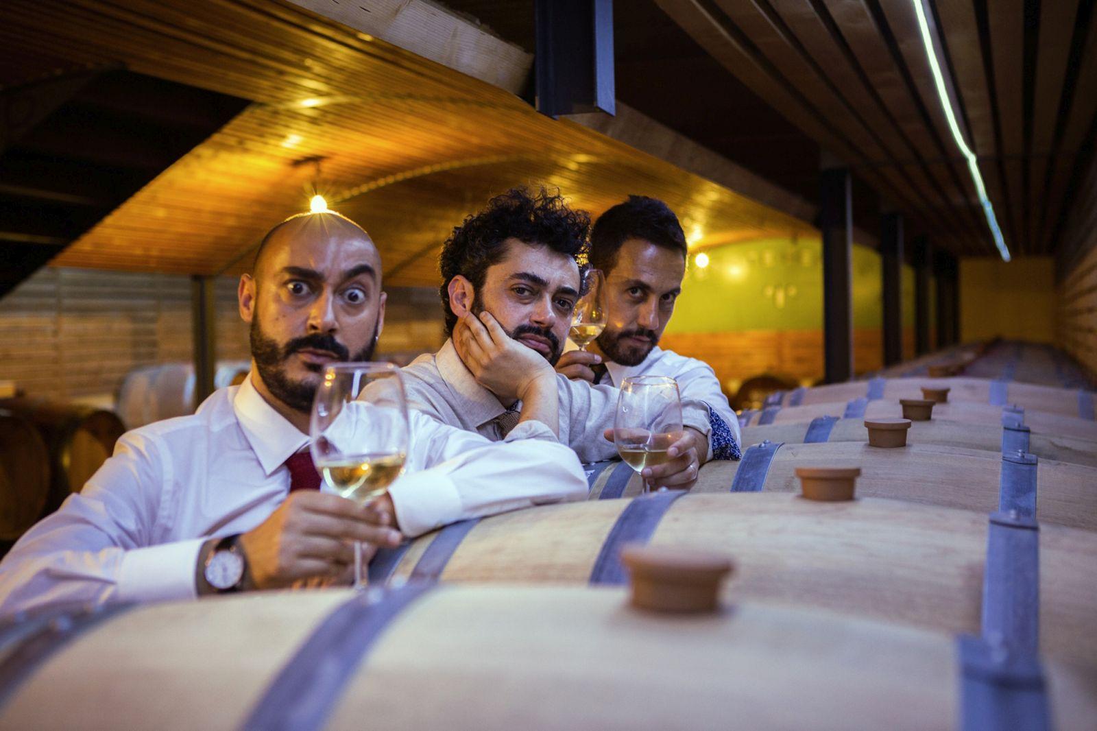 Bianco di Babbudoiu: Stefano Manca, Roberto Fara e Michele Manca insieme in un'immagine promozionale del film