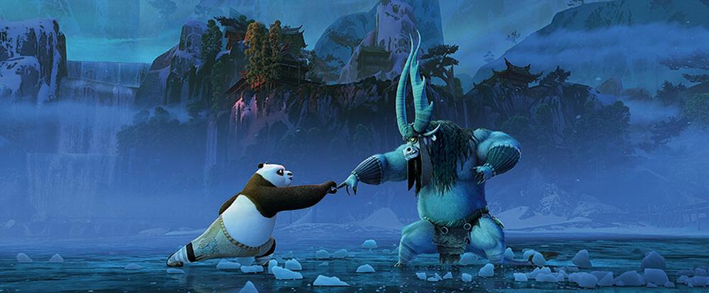 Kung Fu Panda 3: una scena di lotta del film d'animazione