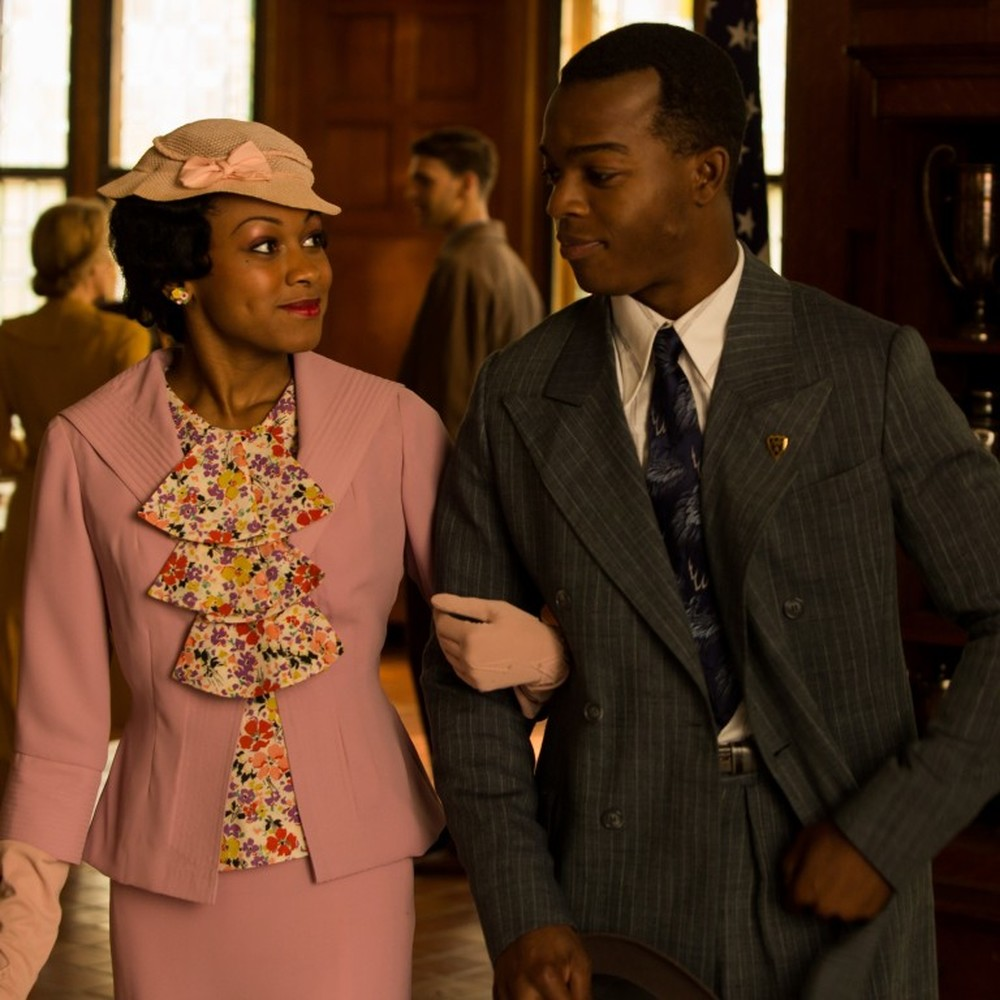 Race - Il colore della vittoria: Stephan James e Shanice Banton in una scena del film