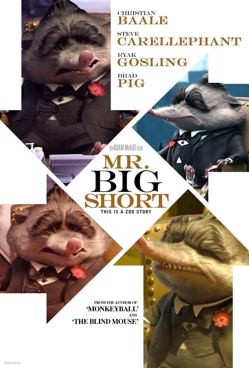 Zootropolis: il poster parodia del film La grande scommessa