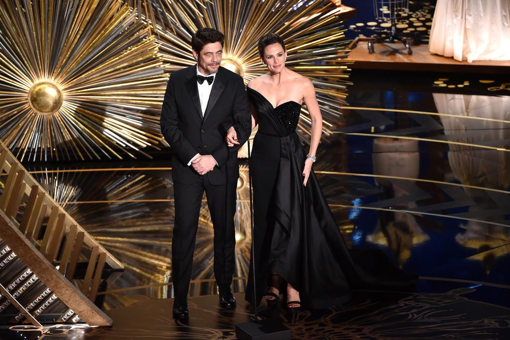 Oscar 2016, Benicio Del Toro e Jennifer Garner