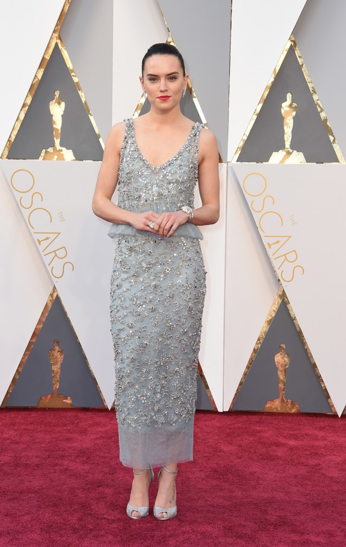 Oscar 2016: Daisy Ridley sul red carpet